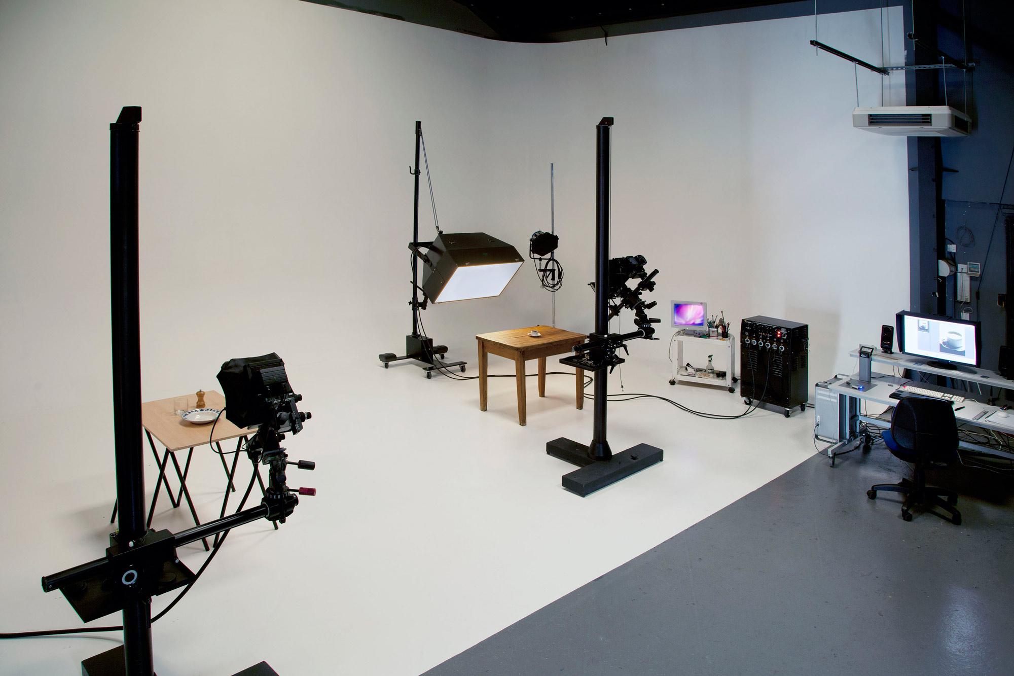Main shooting area for London food photographer