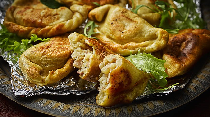 Pierogi Dumplings on tray in London Street Food Photography blog